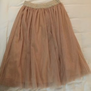 NWOT JJ Perfection nude tulle skirt!!!